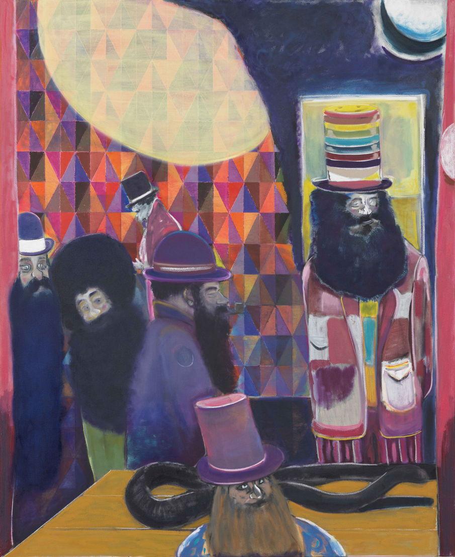 RYAN MOSLEY, Two moon saloon, 2018. Oil on canvas, 183 x 150 cm. Courtesy Tim Van Laere Gallery, Antwerp