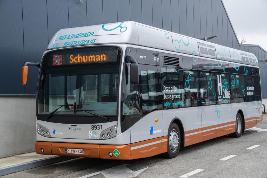 De MIVB test een waterstofbus gedurende twee jaar