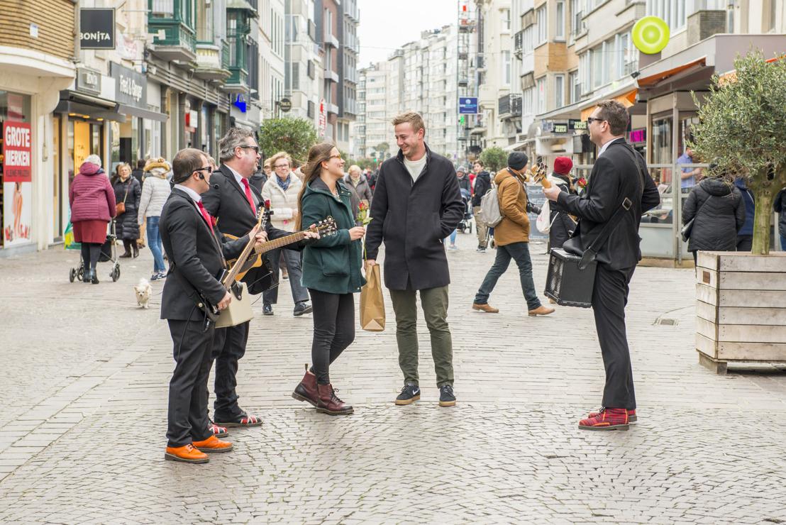 Oostende verrast shoppers op Valentijn