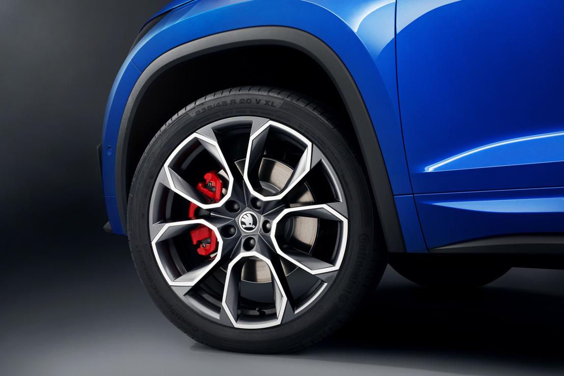 ŠKODA onthult meer details van zijn nieuwe krachtige SUV, de KODIAQ RS