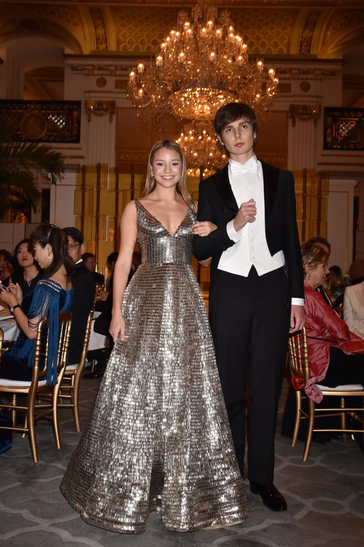 Amelia Ash Rudick (in Naeem Khan and jewelry Payal New York) and her cavalier Marquis Filippo Patrizi Naro Montoro, Photo by Jean Luce Huré