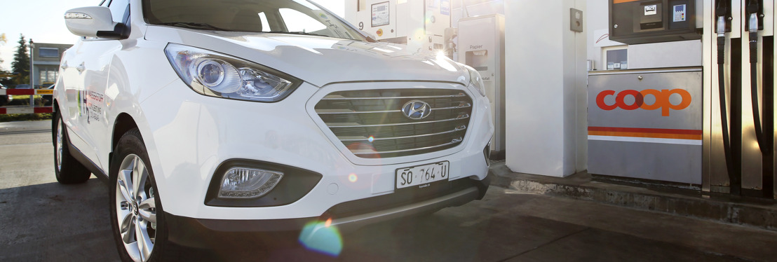 Coop opens first public hydrogen filling station in Switzerland and incorporates twelve new Hyundai ix35 Fuel Cells into the fleet