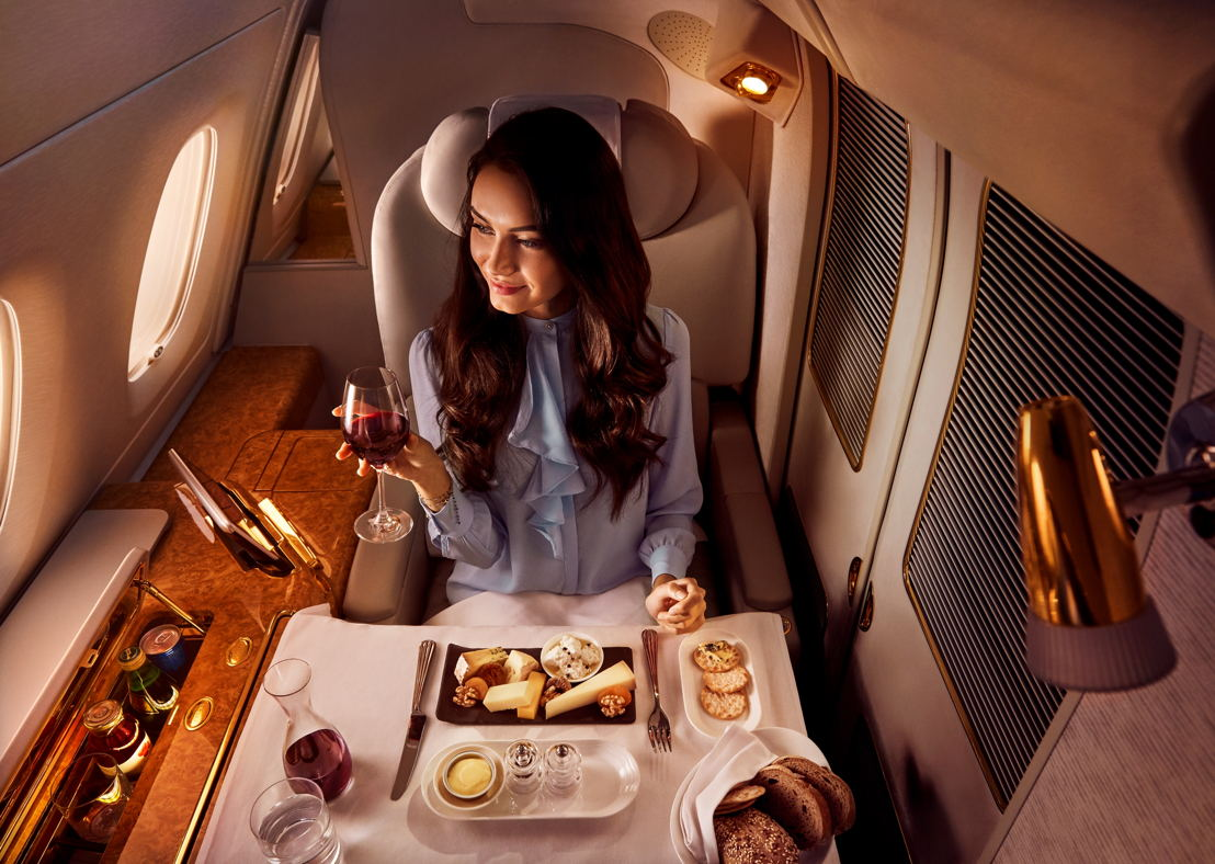 Cheese Platter in First Class