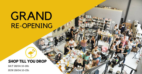 Grand Re-Opening: kids e-shop De Gele Flamingo verdubbelt magazijnruimte