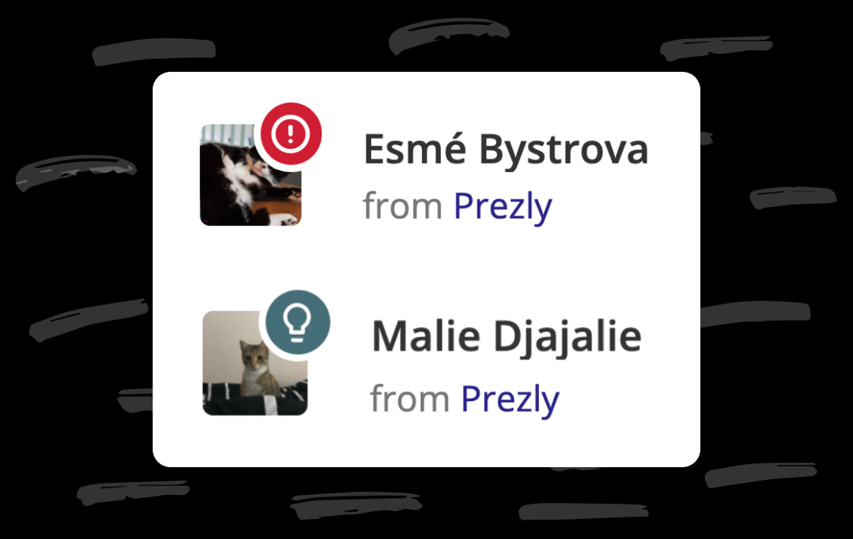 Contact status icons