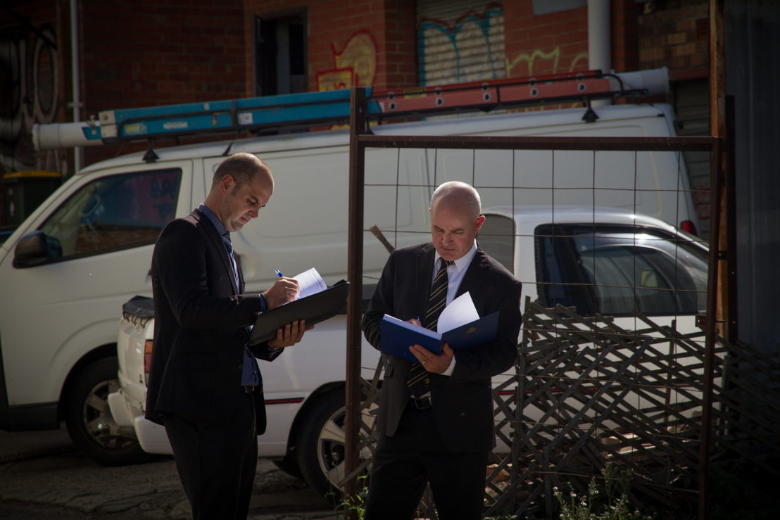 Butler and Rowe investigating