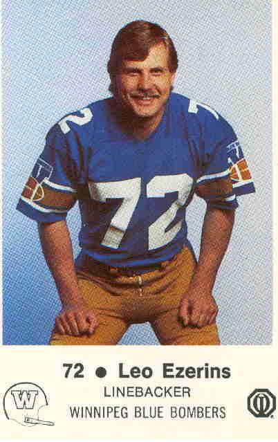 Leo Ezerins as a member of the Winnipeg Blue Bombers