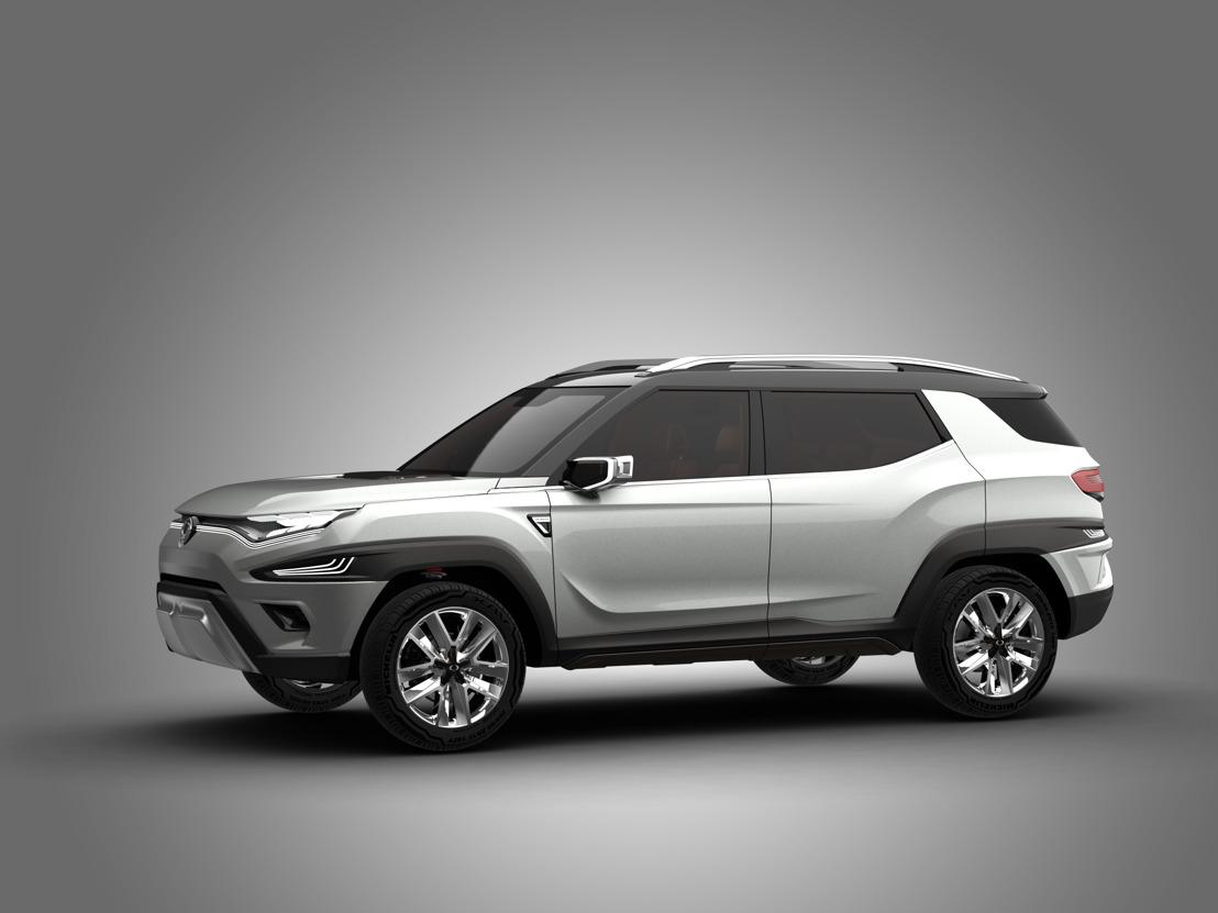 SSANGYONG PRESENTEERT ZIJN XAVL MIDSIZE SUV CONCEPT EN KORANDO 2017 IN GENEVE