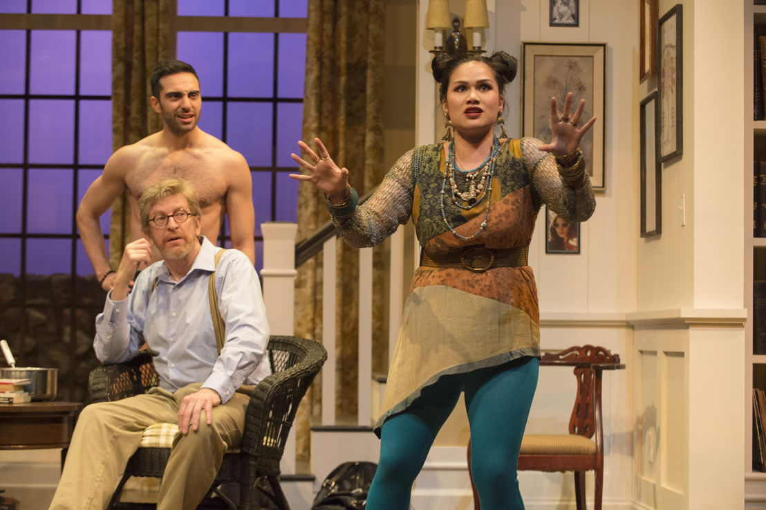 Lee Majdoub, R.H. Thomson and Carmela Sison in Vanya and Sonia and Masha and Spike by Christopher Durang / Photos by David Cooper