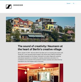 The sound of creativity: Neumann at the heart of Berlin's creative village