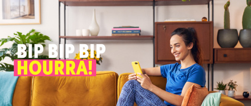 Boondoggle le crie haut et fort « Bip, bip, bip, hourrah ! » pour l'appli Payconiq by Bancontact.