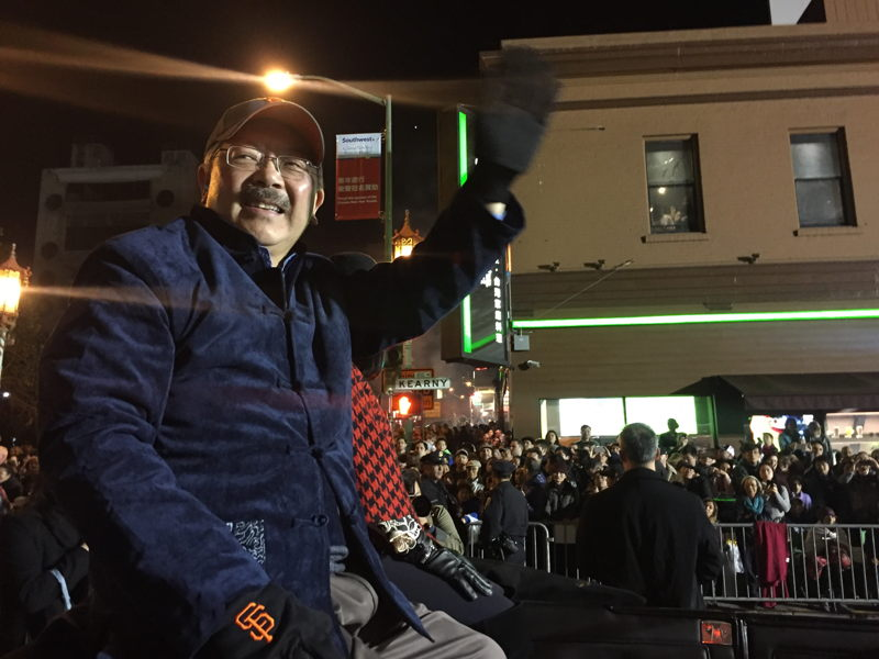 Ed Lee, mayor of San Franscisco, de facto capital of sanctuary cities, at Chinese New Year