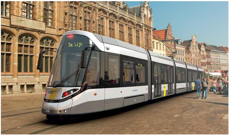Ontwerp CAF-tram voor Gent.
