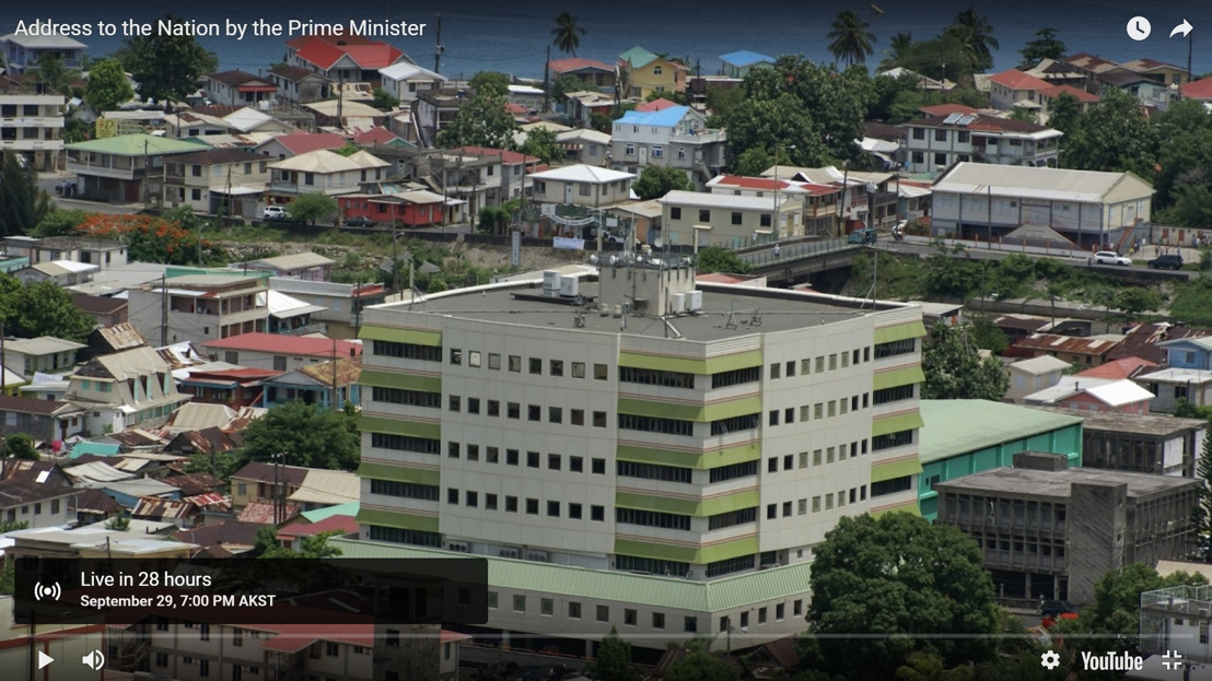OECS Media Alert: Dominica's Prime Minister, the Honourable Roosevelt Skerrit to address the Nation