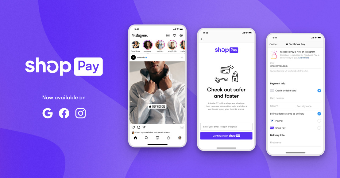Shop Pay becomes first Shopify product to extend beyond Shopify merchants, soon available to any business selling on Facebook and Google