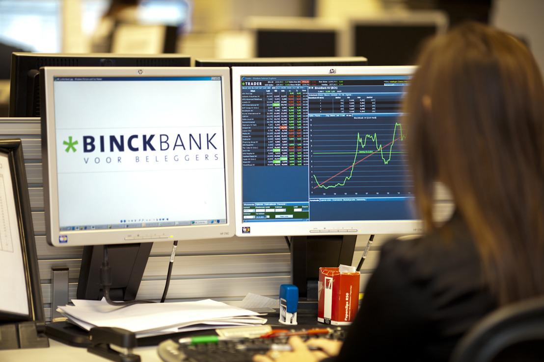 BinckBank affiche un résultat annuel positif au terme d'un excellent quatrième trimestre