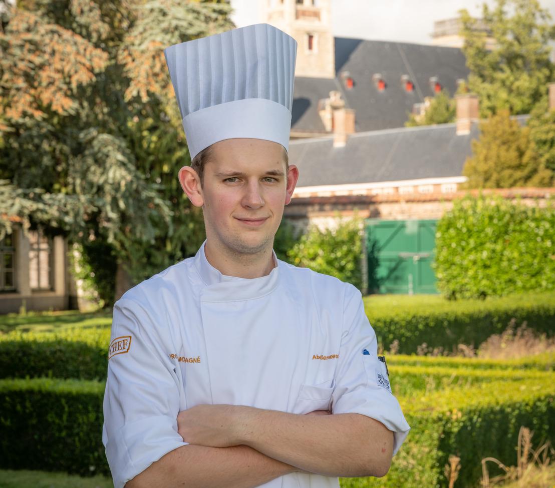 Abel Demeestere (22) uit Heverlee mag zich voortaan 'Eerste kok van België 2022' noemen
