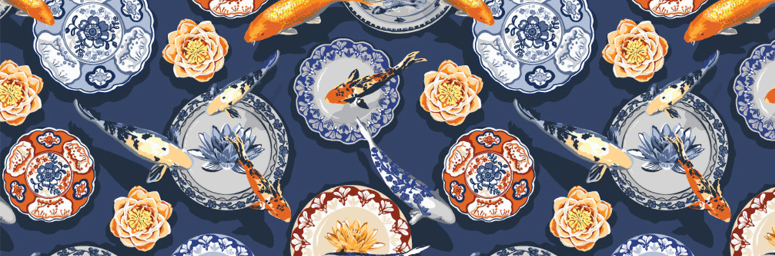 Orient-Inspired Wall Murals by Competition Winner - Julia Fonnereau