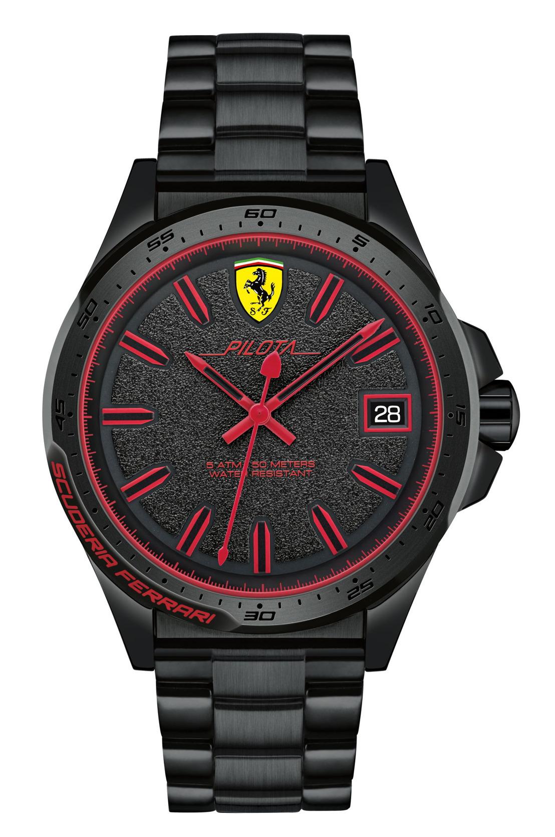 Scuderia Ferrari se prepara para el último GP con su colección de relojes Pilota