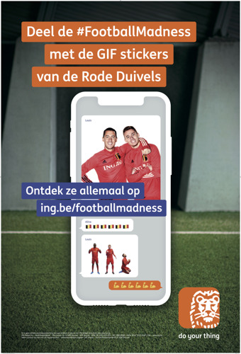 mortierbrigade digitaliseert de Rode Duivels voor ING en de #FootballMadness