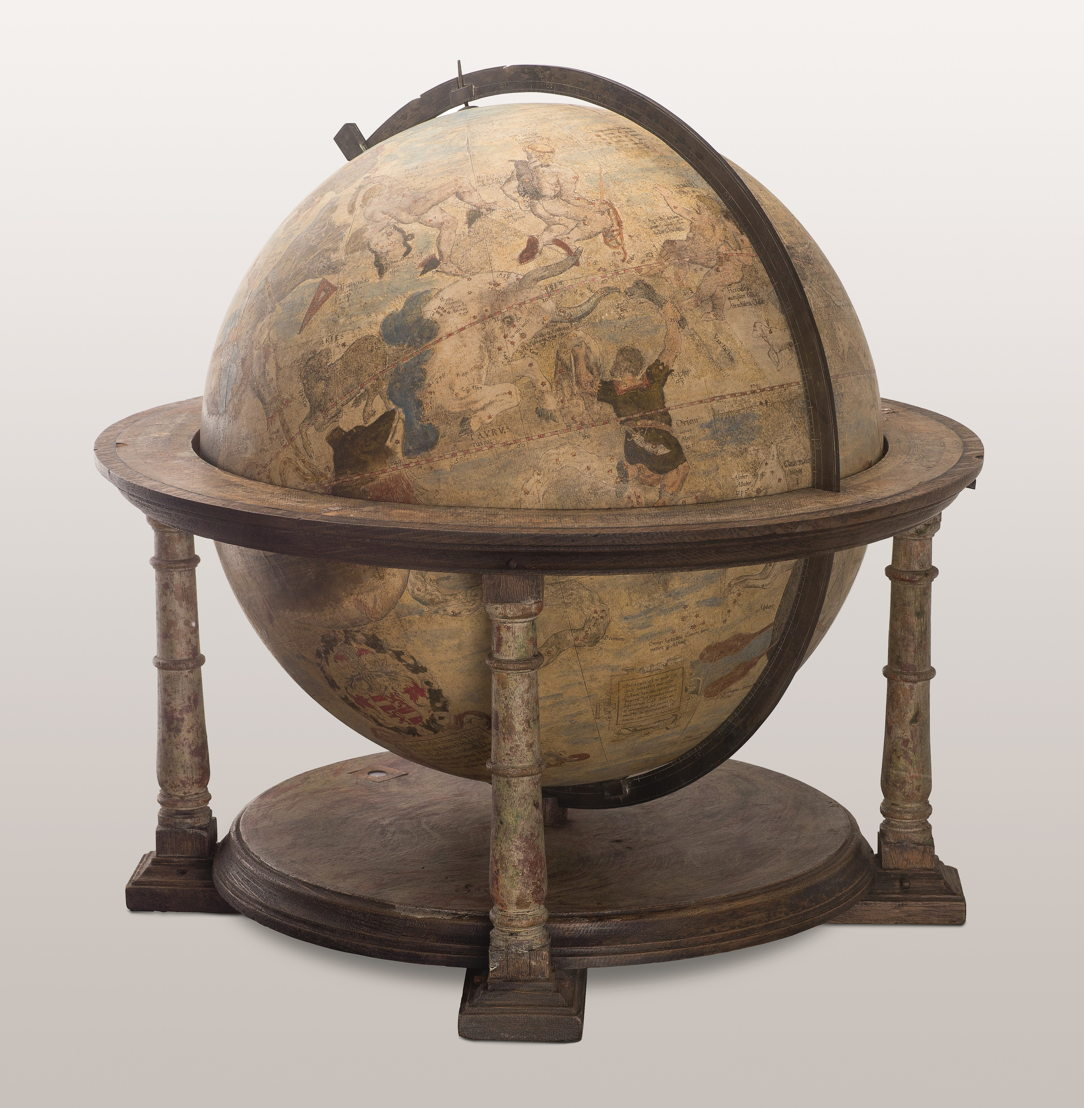 À la recherche d'Utopia © Gérard Mercator, Globe céleste, Leuven, 1551. Lüneburg, Museum für Fürstentum Lüneburg