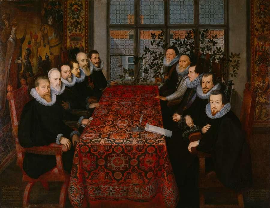 La conférence à Somerset House, 1604 © Londres, National Portrait Gallery