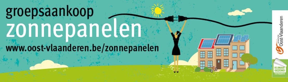 Provincie Oost-Vlaanderen lanceert derde groepsaankoop zonnepanelen
