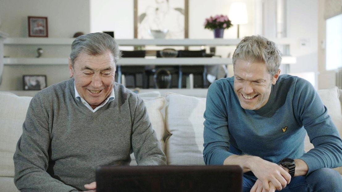 Baanwielrennen: Maarten en Eddy Merckx - (c) De Mensen