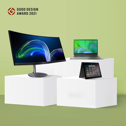 Acer's Eco-friendly Aspire Vero Earns a 2021 Good Design Award From Japan