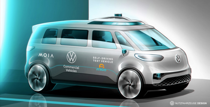 Volkswagen Commercial Vehicles and Argo AI start international trials of autonomous driving – MOIA first user of the ID. BUZZ AD