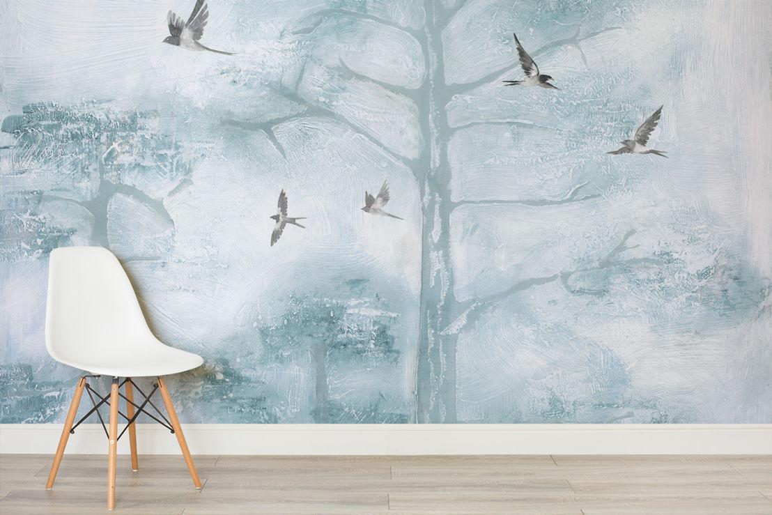 Tree Tops Blue - Simple