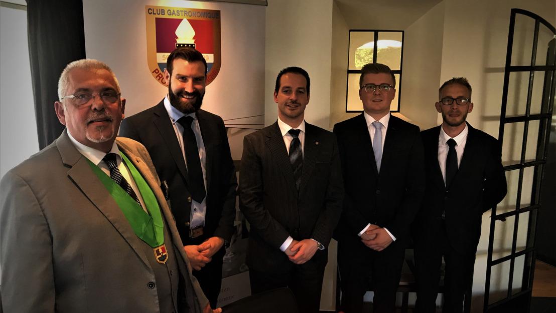 Antoine, Maxime et Simon en finale du concours 'Premier Maître d'Hôtel de Belgique 2020'