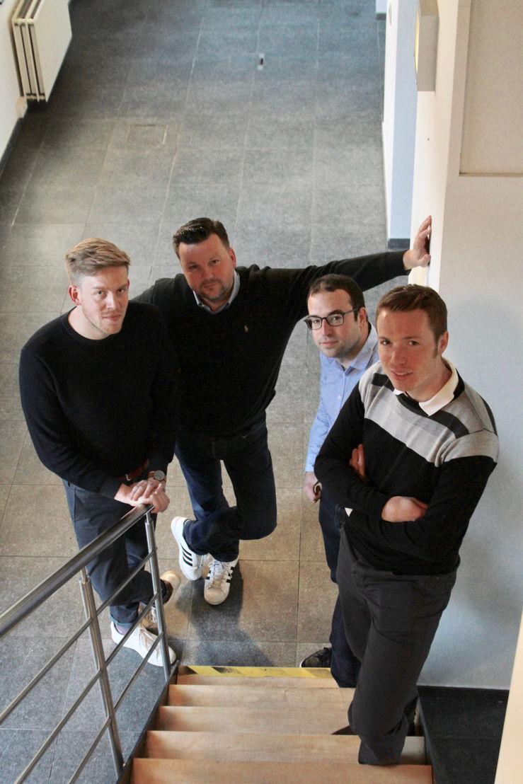 Founders (2) into.care® by Pridiktiv<br/>Thomas Van der Auwermeulen - Jeroen De Backer - Bram Vandewalle - Sam Verschueren