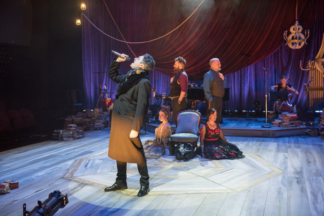 Alessandro Juliani (front) and Cast of Onegin. Photo by David Cooper.