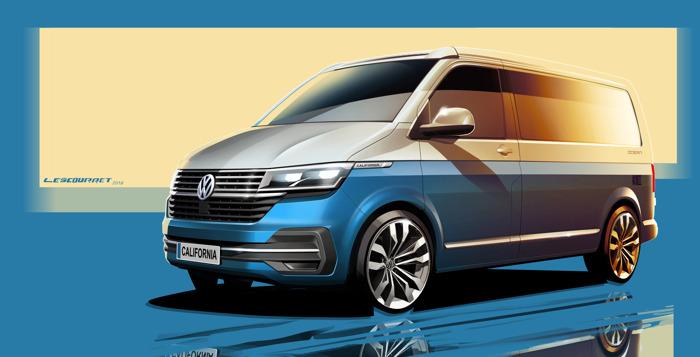 Update voor de iconische reisauto: Volkswagen Commercial Vehicles gunt eerste blik op de nieuwe California 6.1