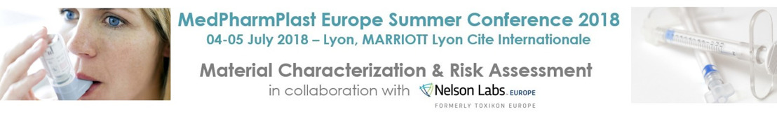 MedPharmPlast Europe conference on 4-5 July 2018 in Lyon - Don't forget to register