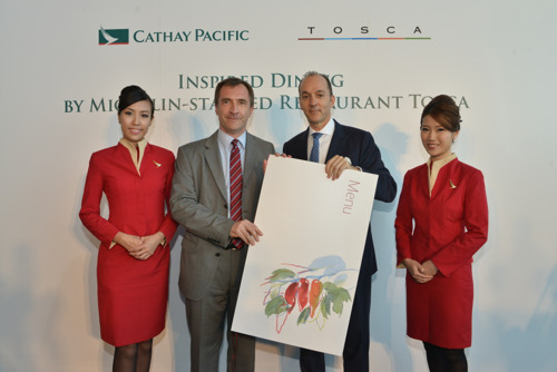 Cathay Pacific partners with Michelin-starred Tosca for inflight Italian cuisine extravaganza