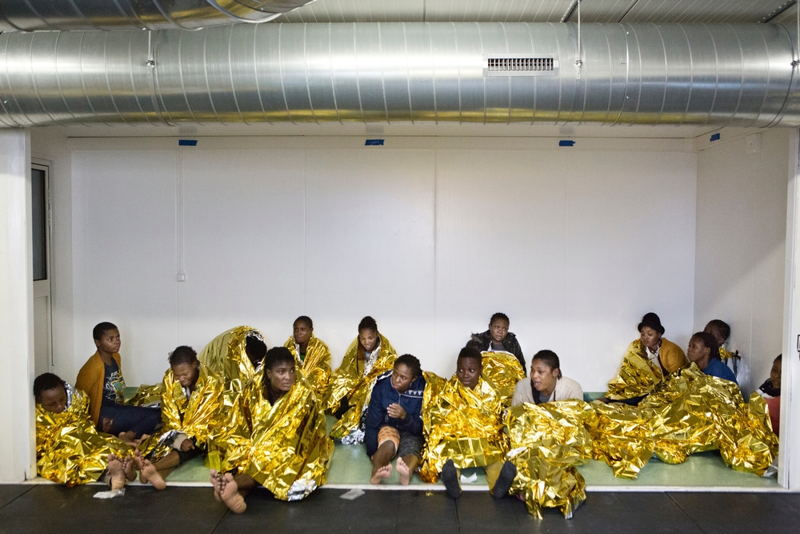 Photographer: Alessandro Penso<br/><br/>Caption: Nigerian women aboard the ship, Bourbon Argos shortly after a rescue in the Mediterranean Sea by Doctors Without Borders (MSF)