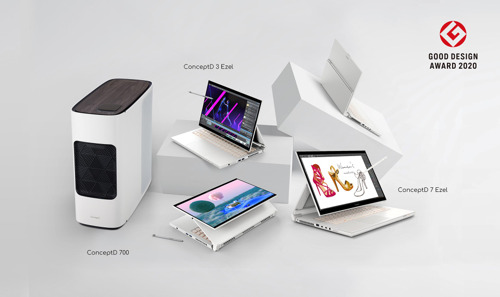 Acer's ConceptD Line for Creators Earns Good Design Awards