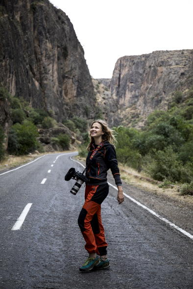 Aleksandra used the MKE 440 for recording climbing action on the rock face