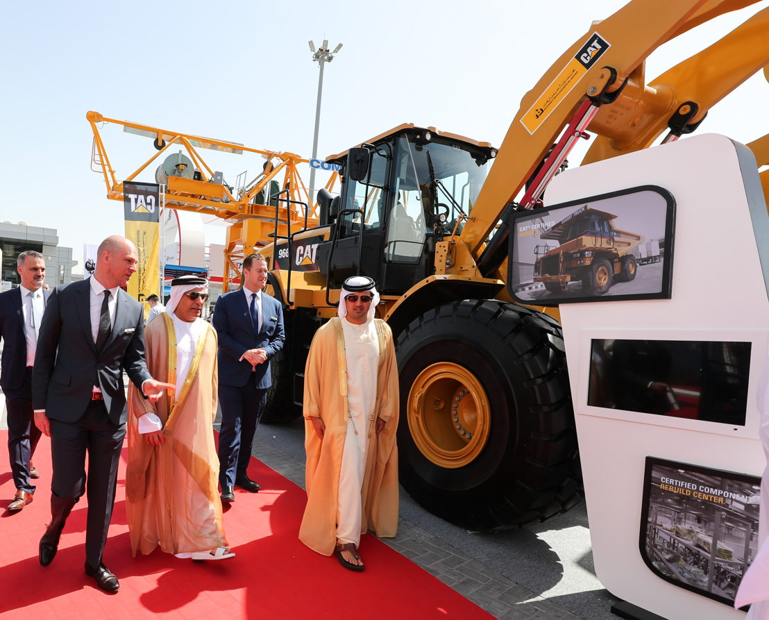 H.E. Mattar Al Tayer, Chairman of the Roads & Transport Authority (RTA), inaugurates The Big 5 Heavy exhibition at the Dubai World Trade Centre on March 26, 2018