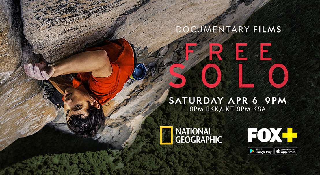 Academy Award-Winning National Geographic Documentary Free Solo Premieres in Asia on April 6