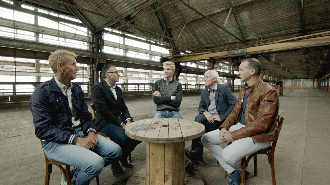 Aflevering 6: Steven Rooks, Eric Van Lancker, Ruben Van Gucht, Peter Winnen, Luc Roosen - (c) Deklat Binnen