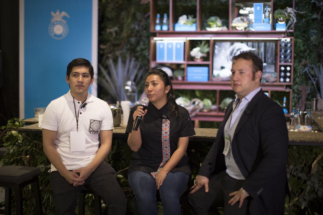 Adan Hernández de Xaman Bar, Chef Josefina Lopez Mendez y Javier Baumeistier de Epicentro