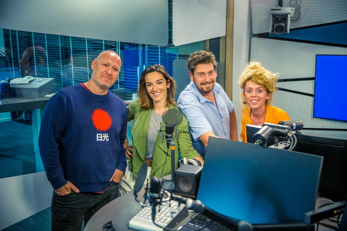 Floris Daelemans, Karolien Debecker, Vincent Byloo en Sien Wynants © Radio 1