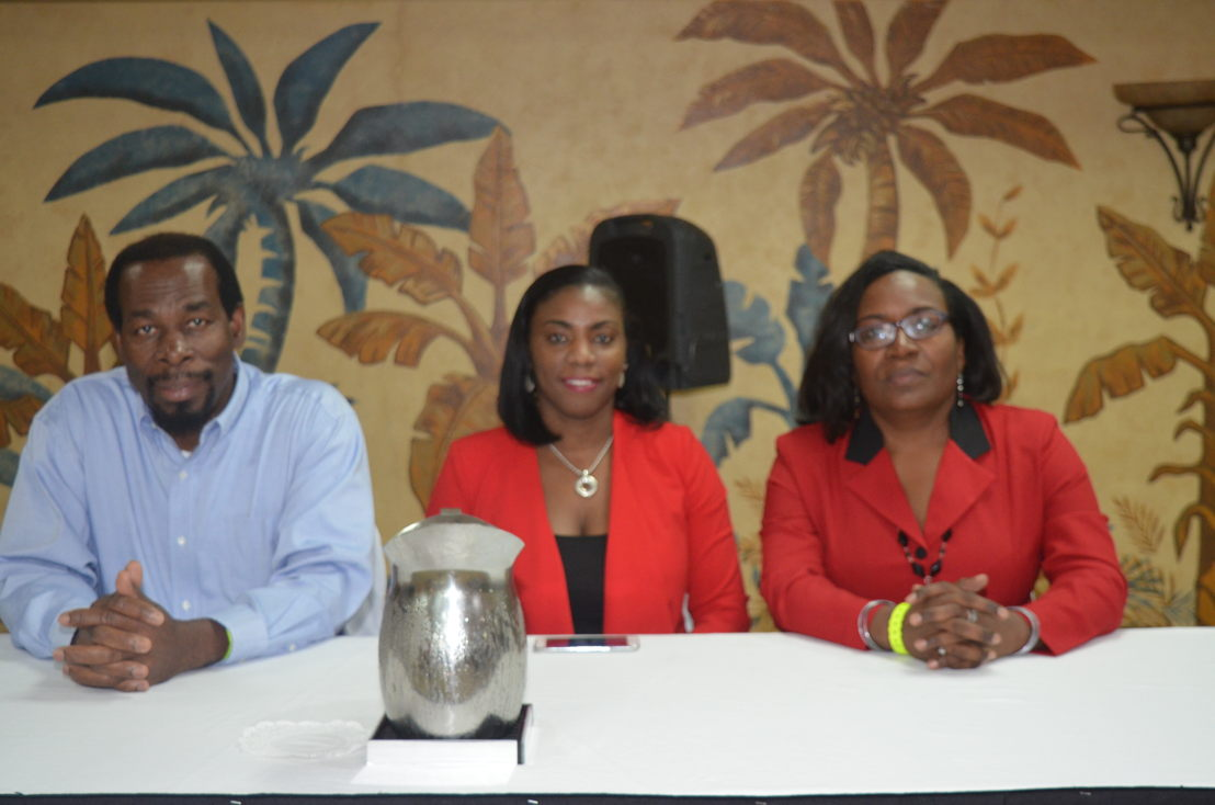 L-R: Mr. David Edwards - NETHTE project manager, OECS Tourism Specialist - Dr. Lorraine Nicholas,  and NETHTE Strategic Plan Consultant - Dr. Jennifer Edwards