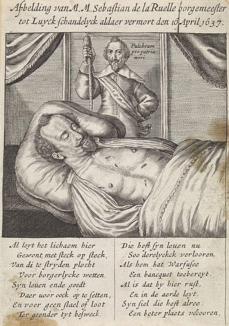 Noël Natalis, 'Het lijk van Sebastien La Ruelle', 1637
