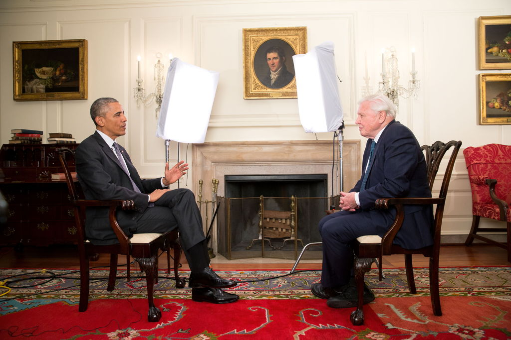 President Obama en David Attenborough (c) BBC One