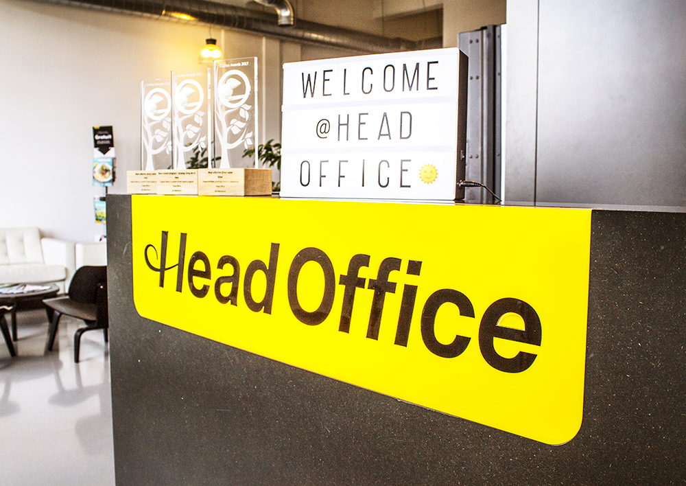 Welcome @ Head Office