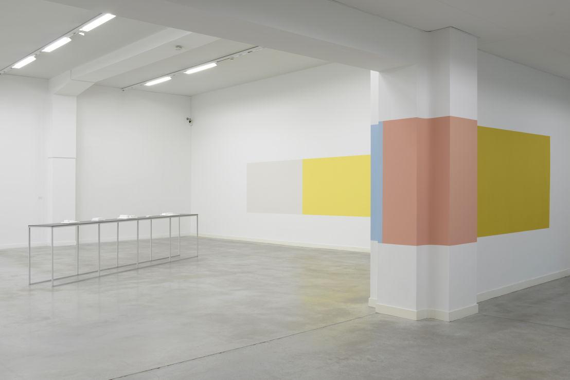 Ane Vester<br/>Panoramisch palet, 2015<br/>(notebook, blouse, classroom, jacket, car,<br/>front door, dress, bench)<br/>(c) Isabelle Arthuis